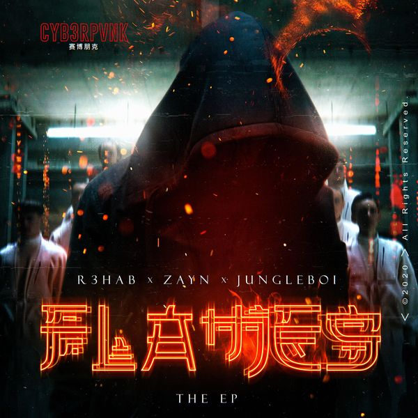 Cover R3HAB - Flames (The EP)